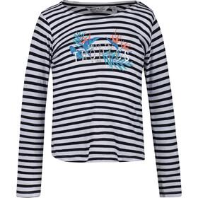 Regatta Carmella T-shirt à manches longues Enfant, navy stripe